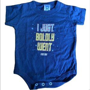 "Star Trek ""I just boldly went"" 12 month onsie"